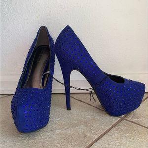 Forever 21 Cobalt blue high heels